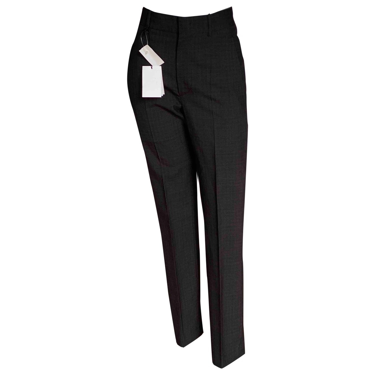 Isabel Marant \N Anthracite Wool Trousers for Women 34 FR