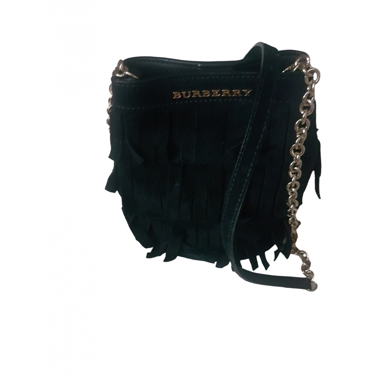 Burberry \N Clutch in  Schwarz Veloursleder