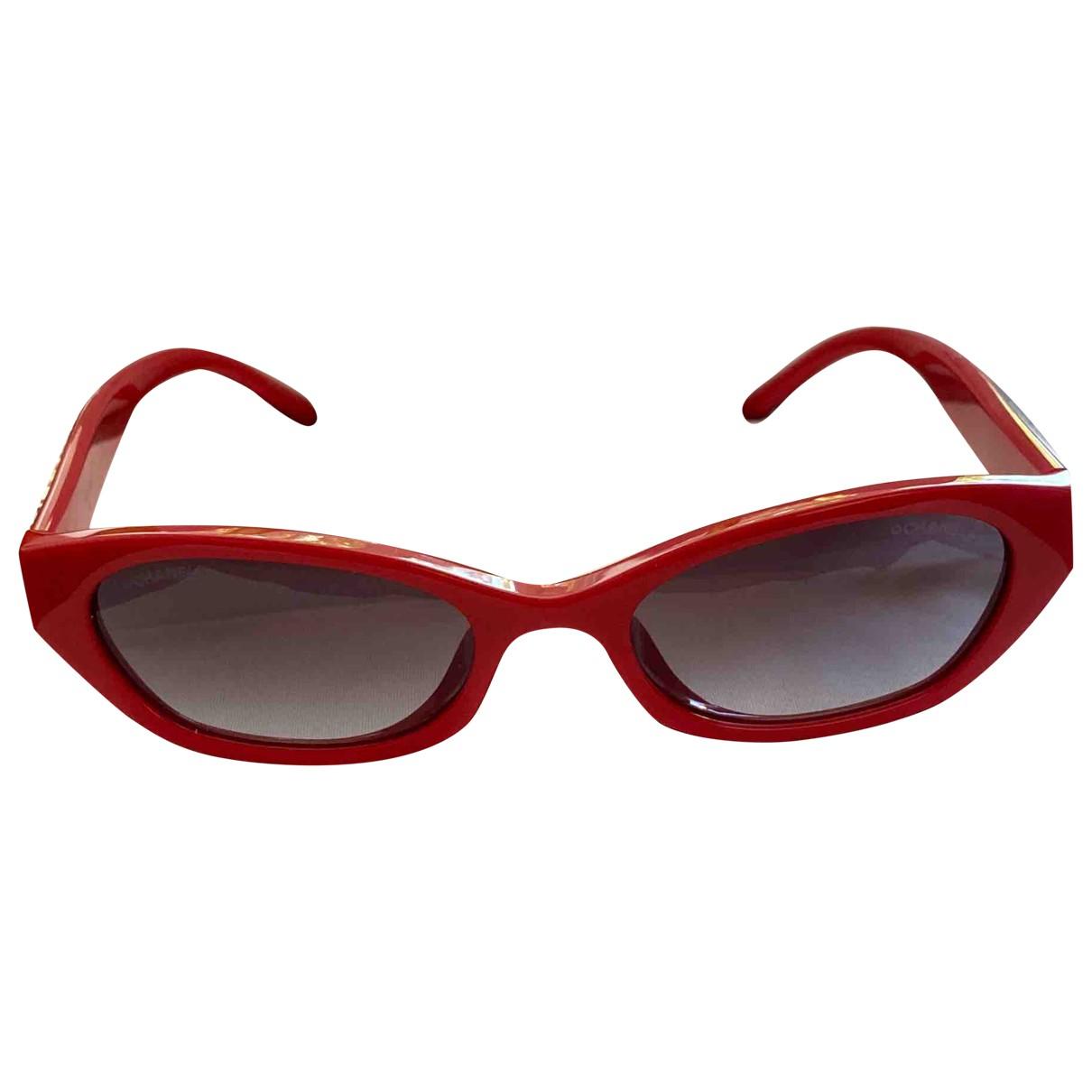 Chanel X Pharrell Williams \N Sonnenbrillen in  Rot Kunststoff