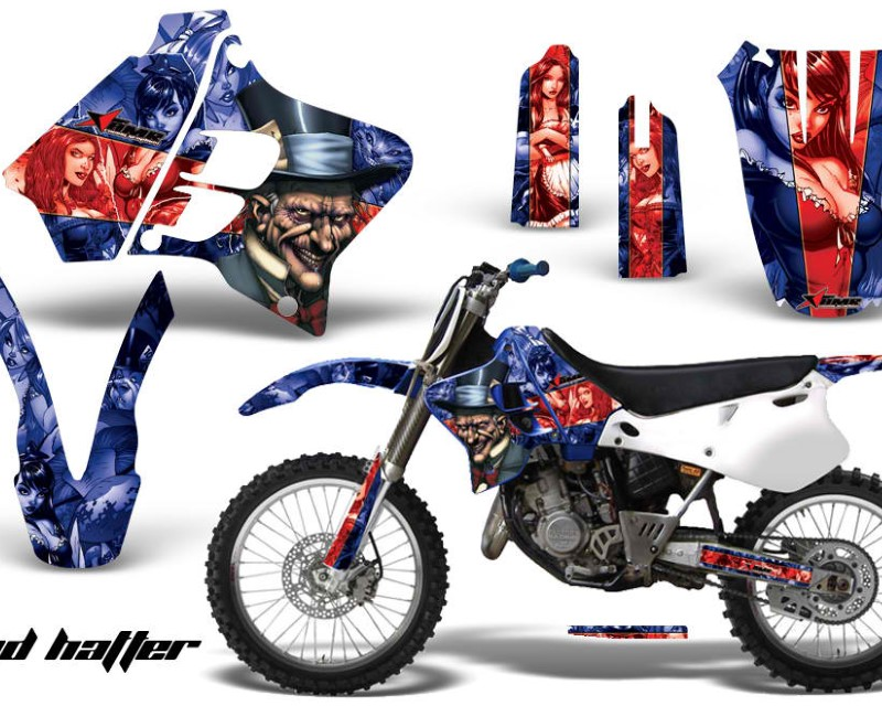 AMR Racing Dirt Bike Graphics Kit Decal Sticker Wrap For Yamaha YZ125 YZ250 1993-1995áHATTER RED BLUE