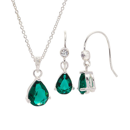 Sparkle Allure 2-pc. Cubic Zirconia Pure Silver Over Brass Jewelry Set, One Size , No Color Family