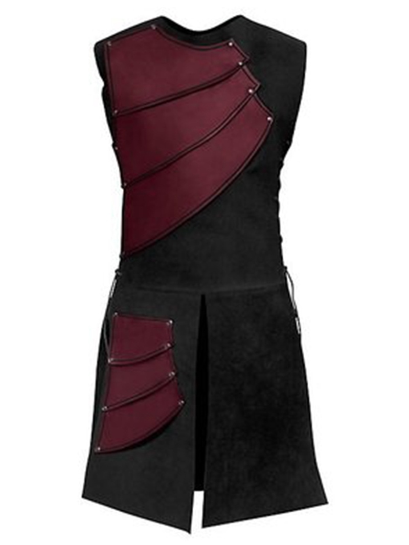 Ericdress Side Strappy Color Block Mens Medieval Stage Costume