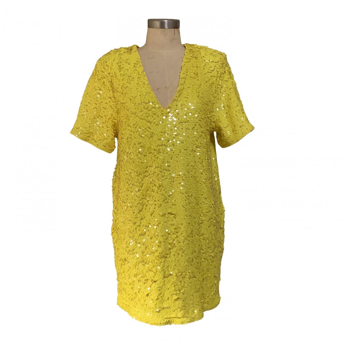 Non Signé / Unsigned \N Yellow Glitter dress for Women XL International