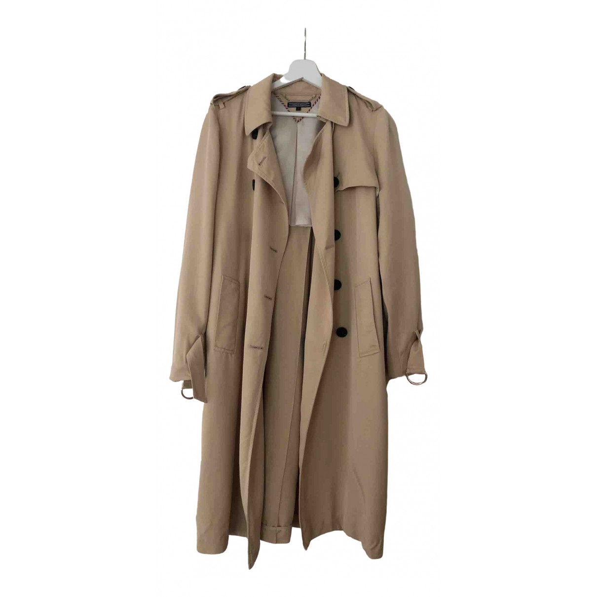 Tommy Hilfiger N Beige Cotton coat for Women 6 UK