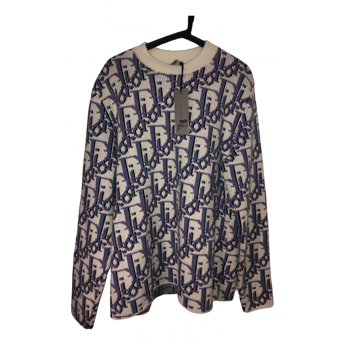 Dior Homme \N Pullover.Westen.Sweatshirts  in  Blau Wolle