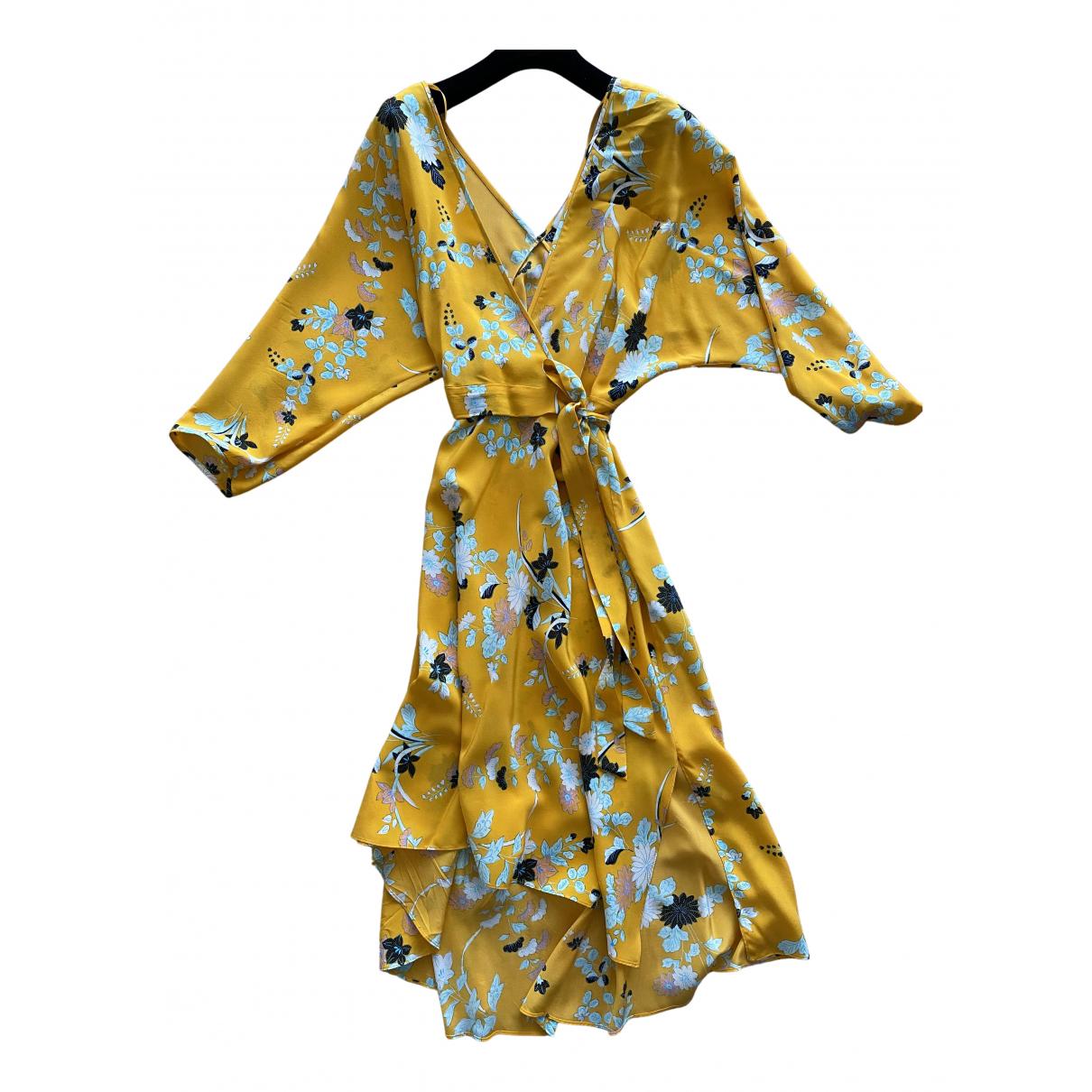 Diane Von Furstenberg \N Kleid in  Gelb Seide