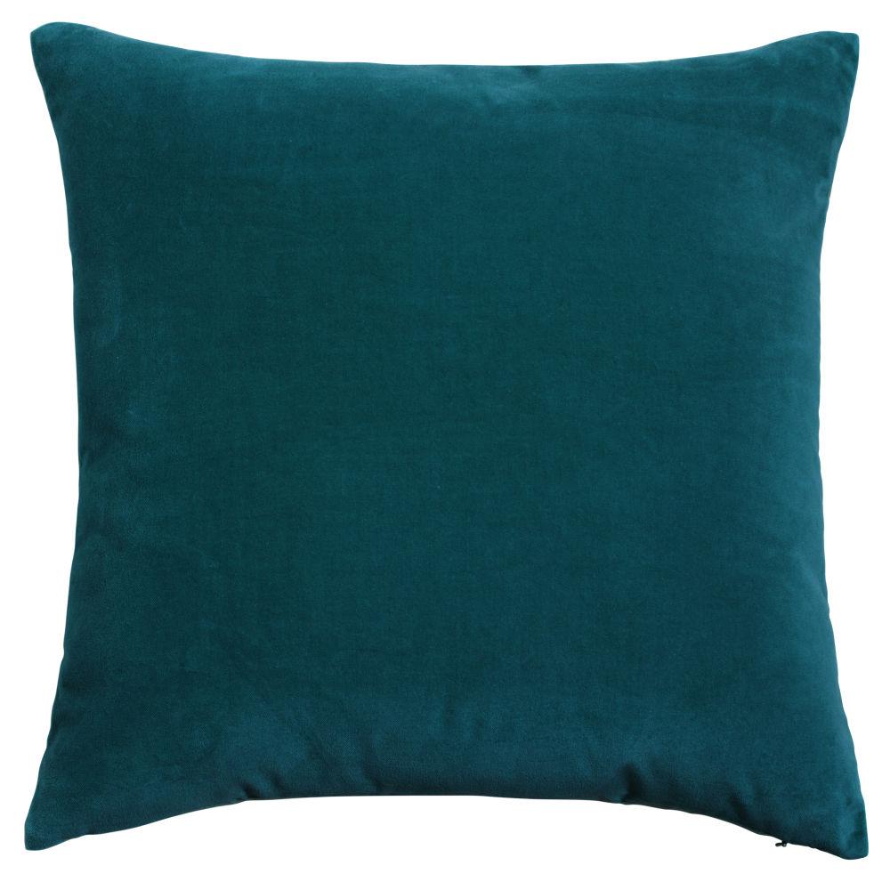 Samt-Kissen, petrolblau, 45x45