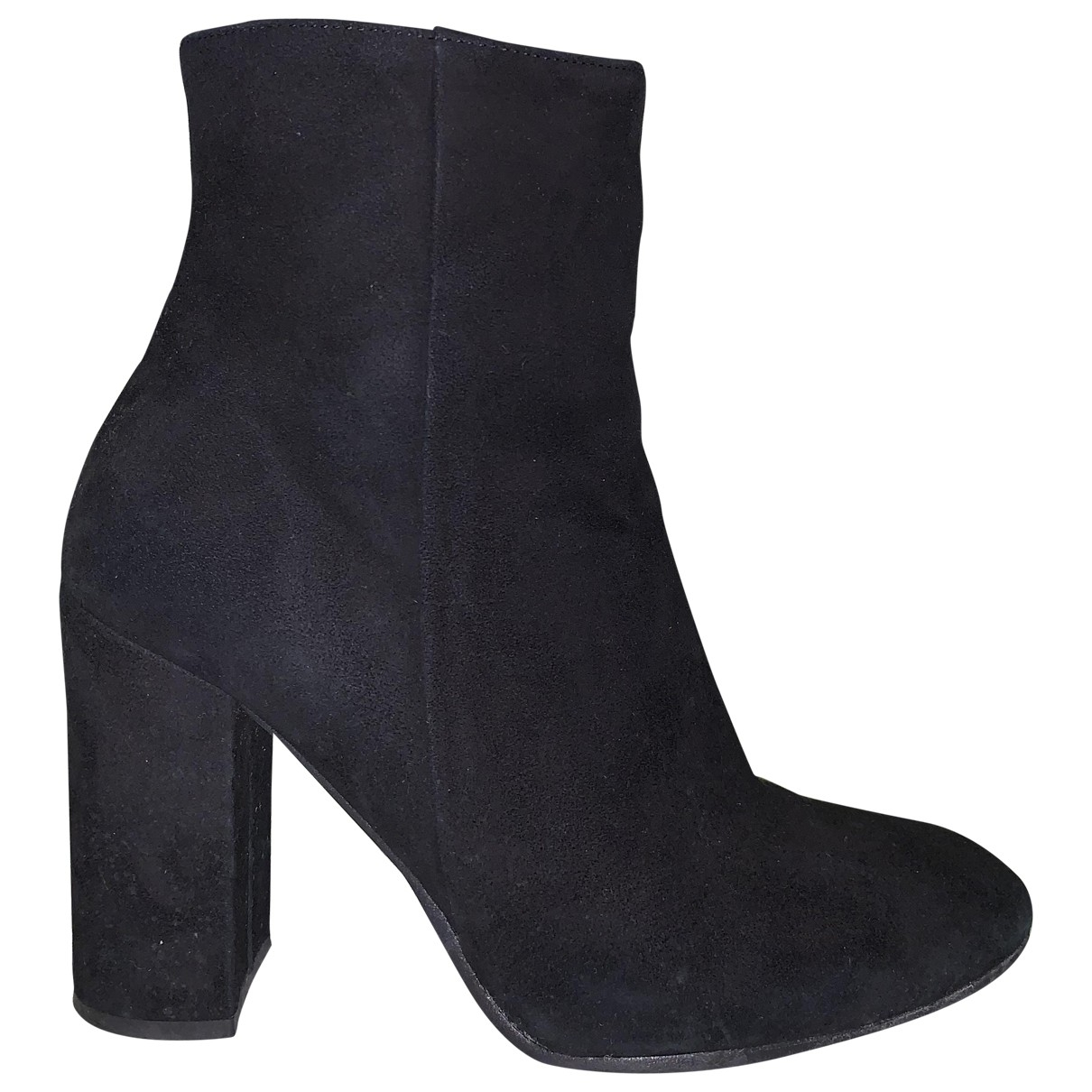Non Signé / Unsigned \N Black Suede Ankle boots for Women 39 IT