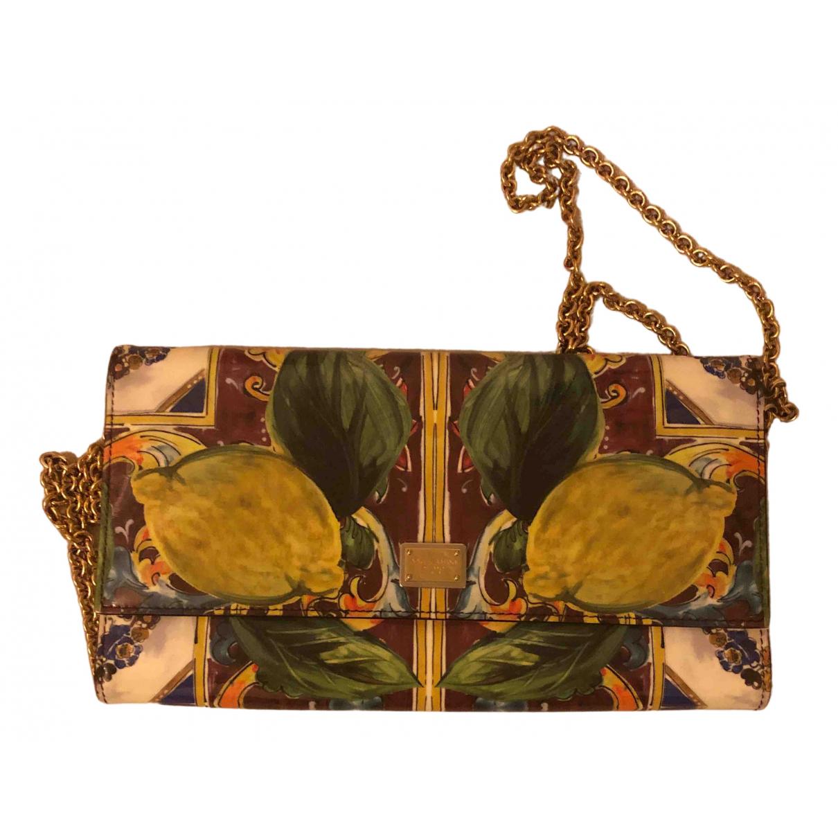 Dolce & Gabbana \N Clutch in  Bunt Lackleder