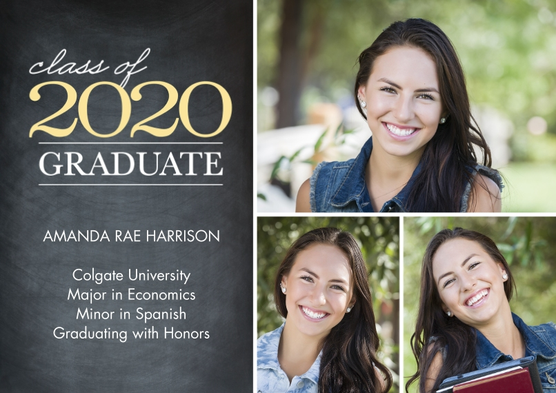 2020 Graduation Announcements Flat Glossy Photo Paper Cards with Envelopes, 5x7, Card & Stationery -Graduate Class of 2020 by Tumbalina