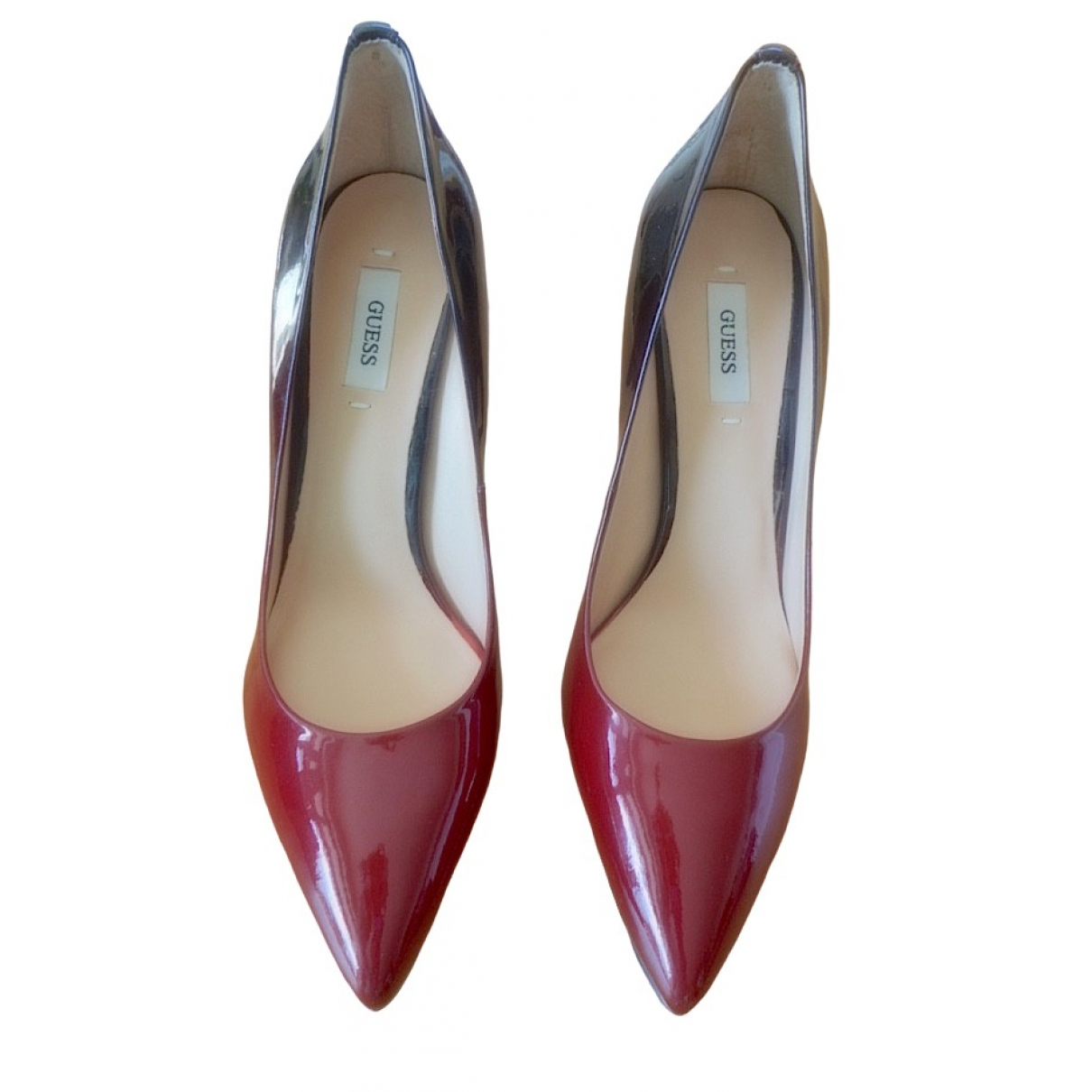 Guess \N Burgundy Patent leather Heels for Women 37 EU
