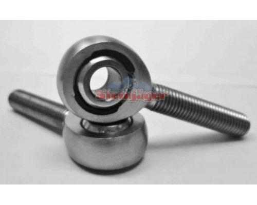 Steinjager J0014772 2 Pack MXM-12-10N Spherical Rod Ends Bearing Male 0.75-16 RH x 0.625 Ball ID Narrow Ball Slotted Nylon Bearing Race Bright Chrome