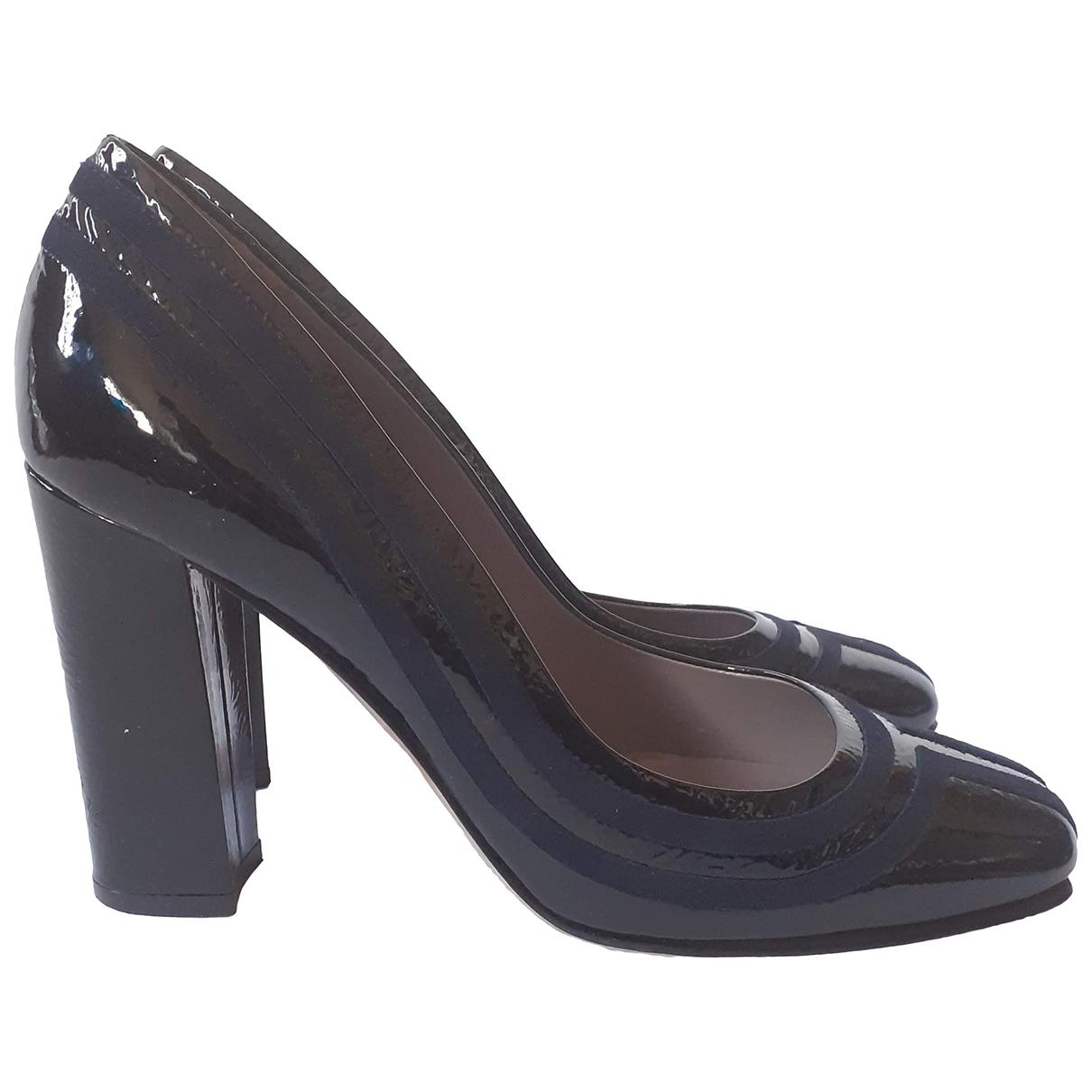 Anya Hindmarch - Escarpins   pour femme en cuir verni - noir