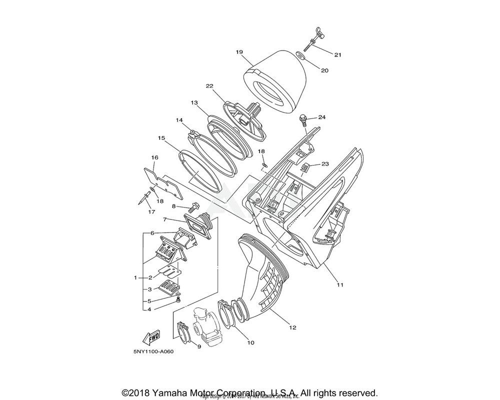 Yamaha OEM 5UN-13565-00-00 JOINT, CARBURETOR