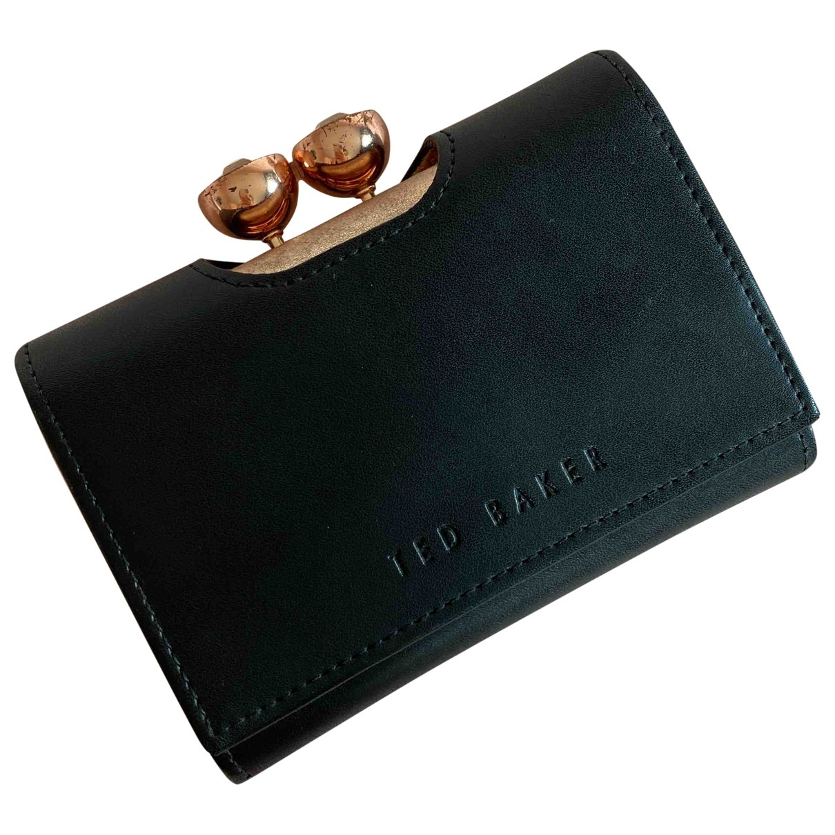 Ted Baker \N Black Leather wallet for Women \N