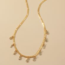 Halskette mit Strass und Nummer Dekor