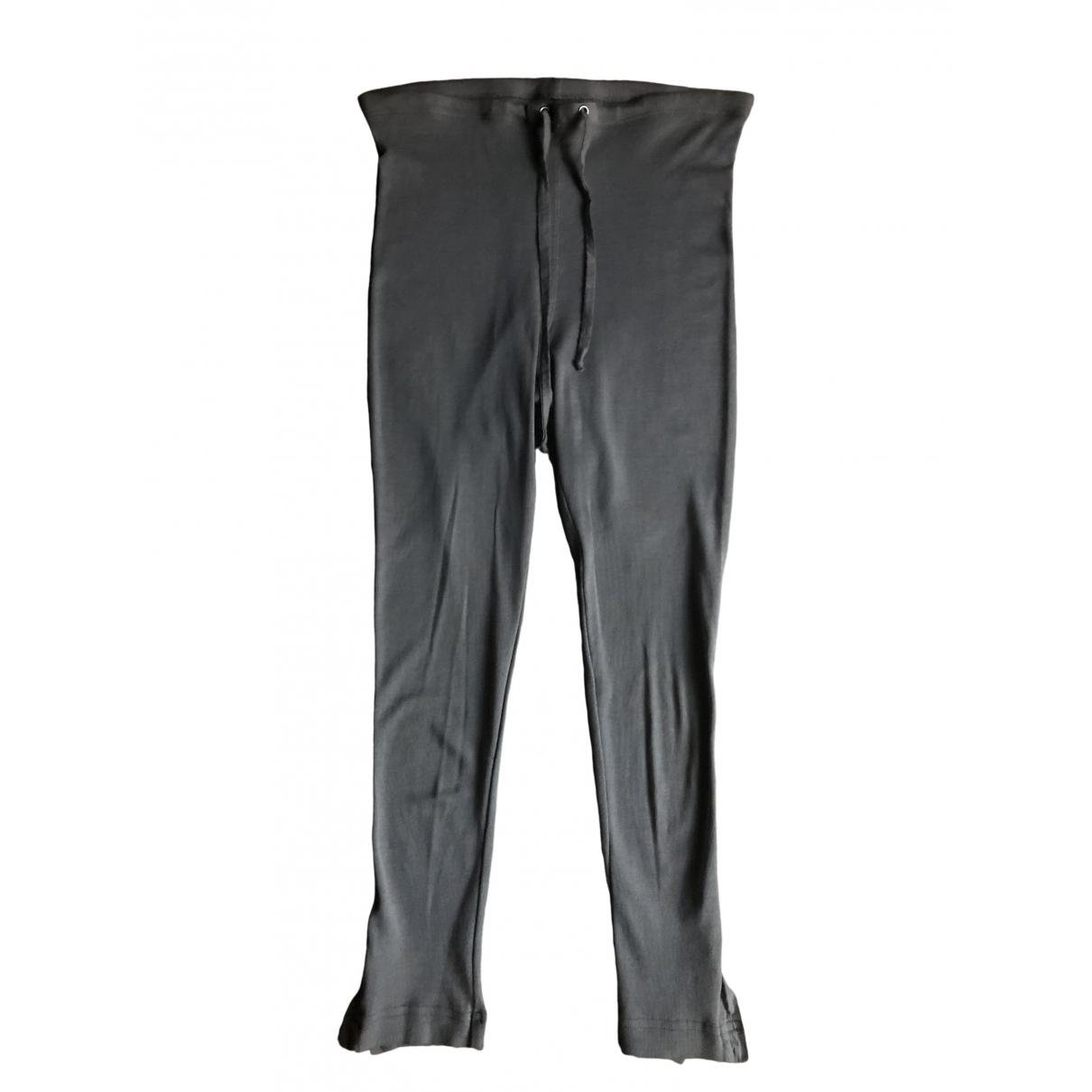 Kristensen Du Nord \N Grey Cotton Trousers for Women M International