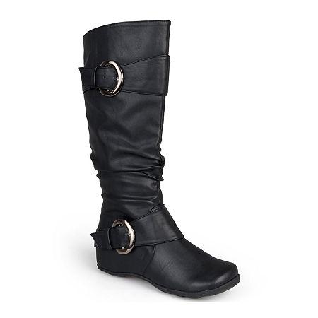 Journee Collection Womens Paris Slouch Riding Boots, 8 1/2 Medium, Black