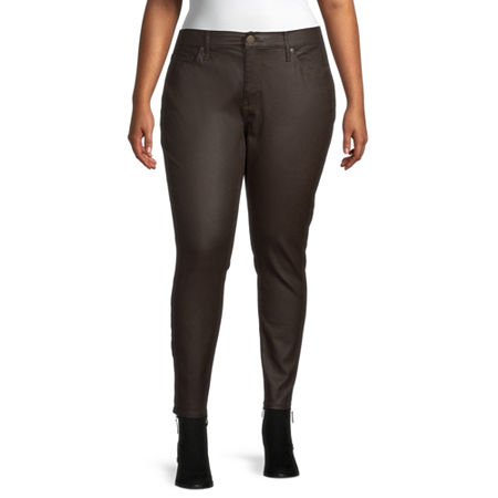 a.n.a - Plus Womens High Rise Skinny Fit Jean, 24w , Brown