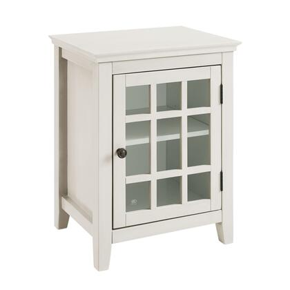 650201WHT01U Largo Collection Cabinet with Medium-Density Fiberboard (MDF) and Pine Wood Frame in Antique White