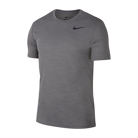 Nike-Big and Tall Mens Crew Neck Short Sleeve Moisture Wicking T-Shirt, 3x-large Tall , Gray