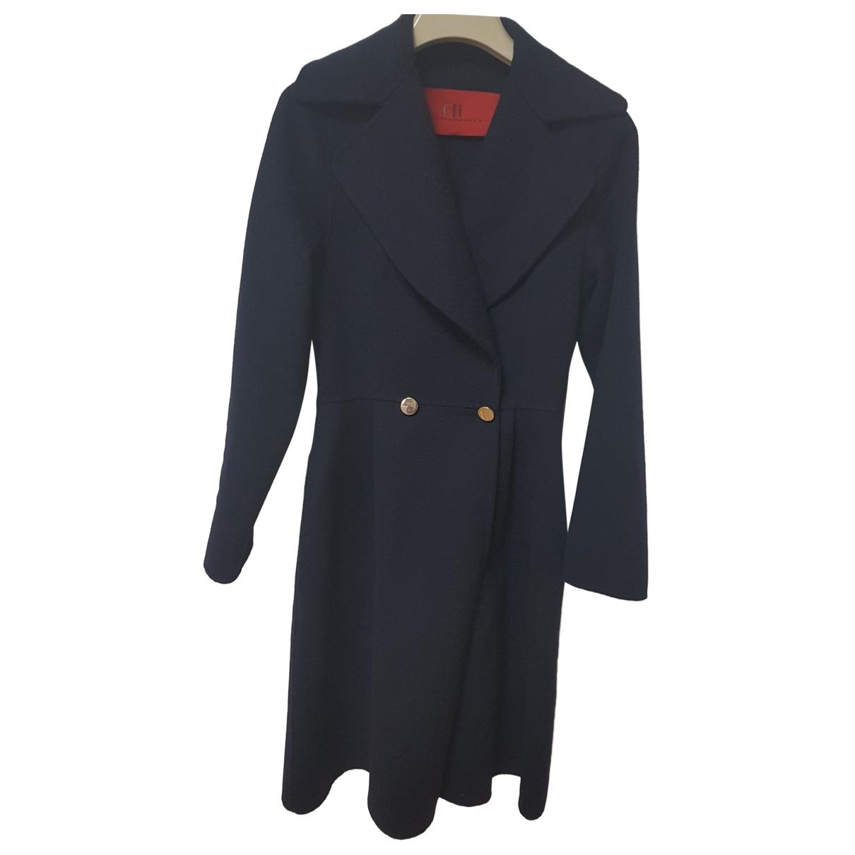 Carolina Herrera - Manteau   pour femme en laine - marine