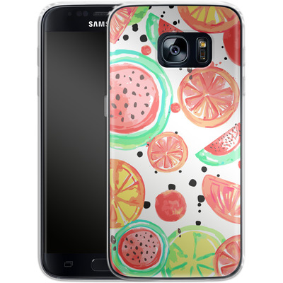 Samsung Galaxy S7 Silikon Handyhuelle - Fruit Crush von Mukta Lata Barua