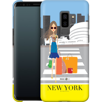 Samsung Galaxy S9 Plus Smartphone Huelle - NEW YORK TRAVEL POSTER von IRMA