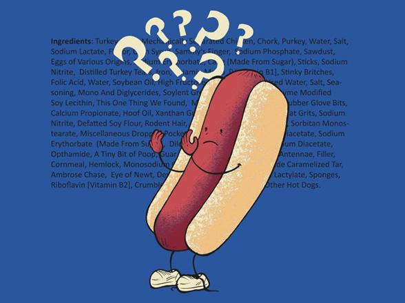 Hot Dog's Identity Crisis T Shirt