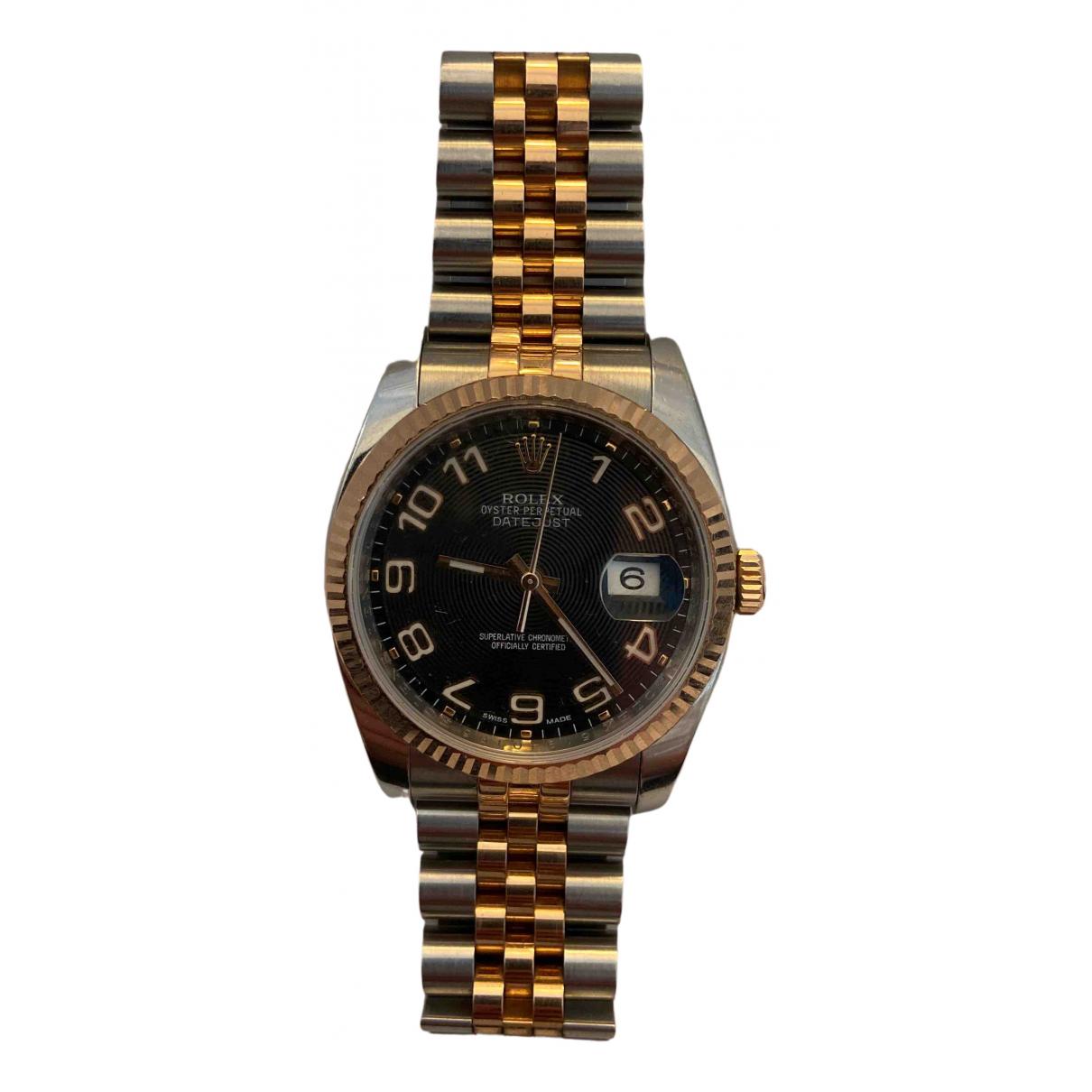 Rolex Datejust 36mm Uhr in  Schwarz Gold und Stahl