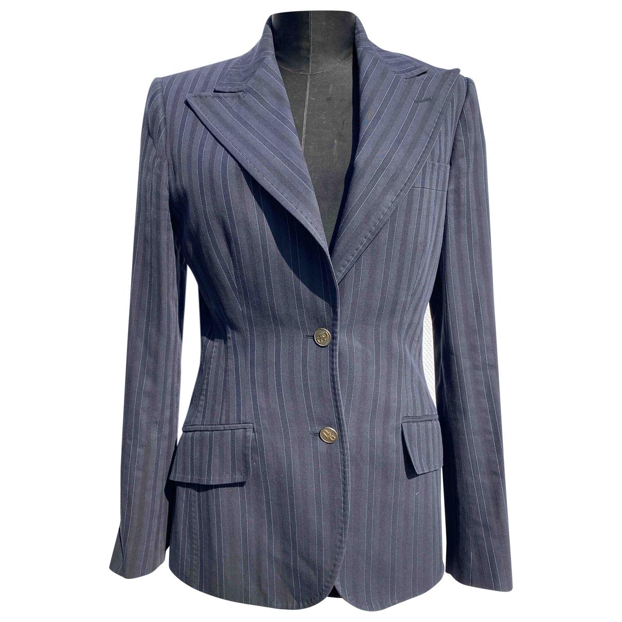 Dolce & Gabbana \N Jacke in  Blau Baumwolle