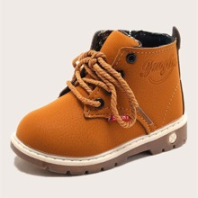 Toddler Boys Lace-up Front Ankle Boots