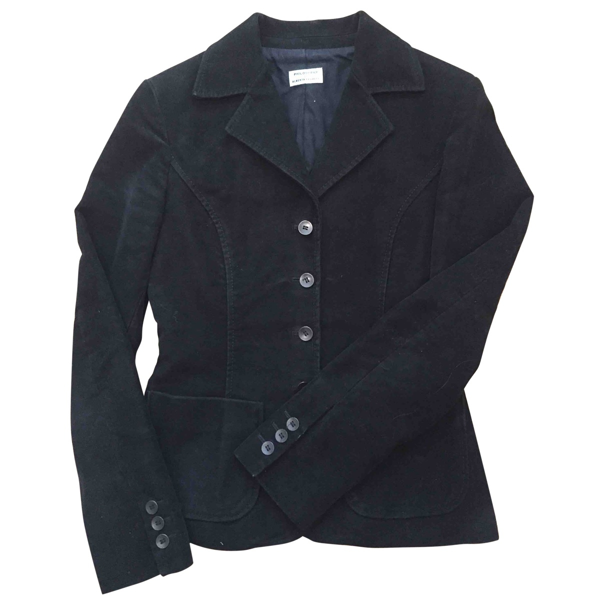 Philosophy Di Alberta Ferretti \N Black Cotton jacket for Women 40 IT