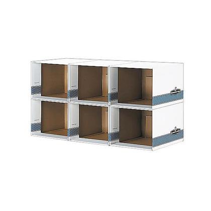 Bankers Box® File/Cube™ Coquille de Boîte - Lettre / Légal, Bleu et Blanc
