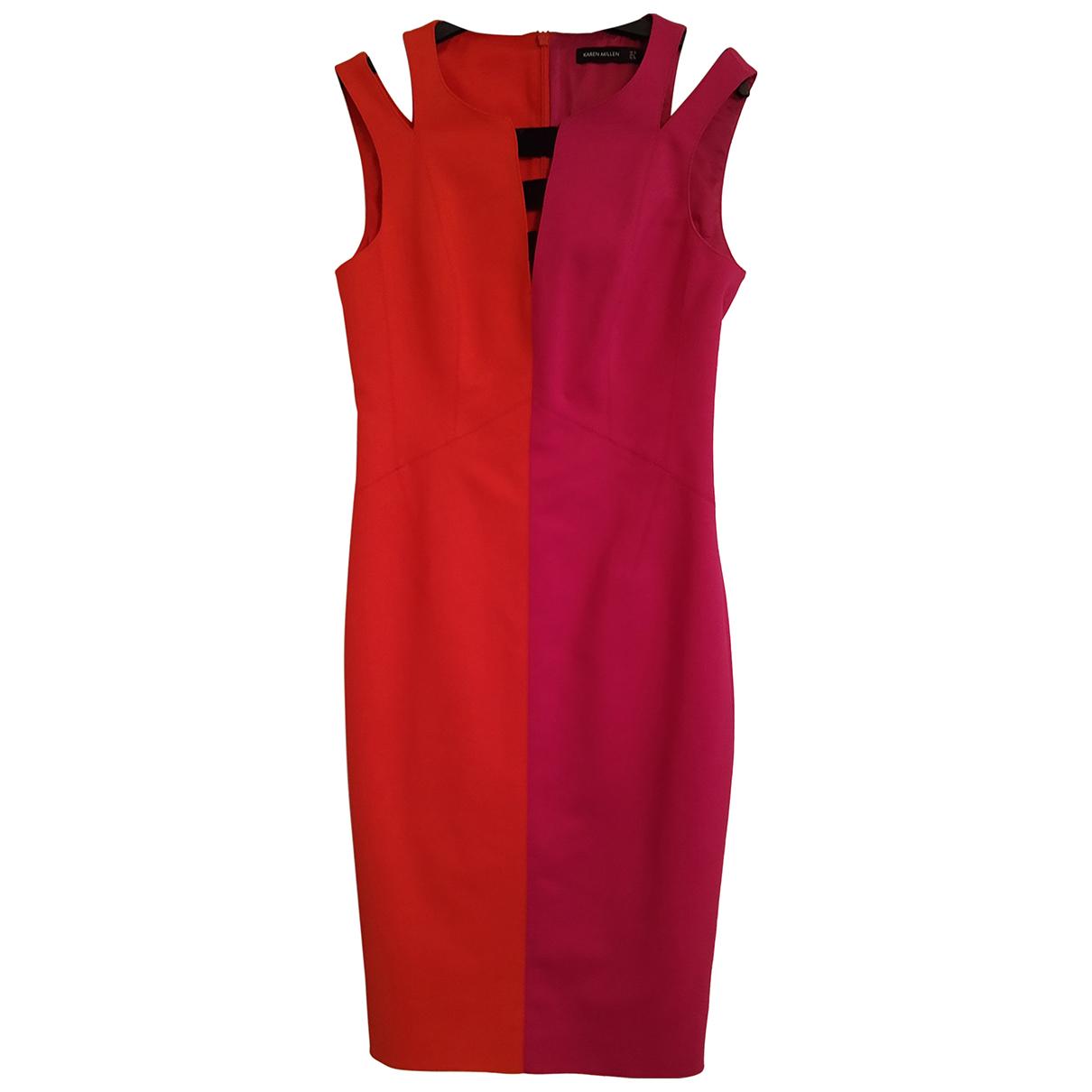Karen Millen \N Kleid in  Bunt Baumwolle - Elasthan