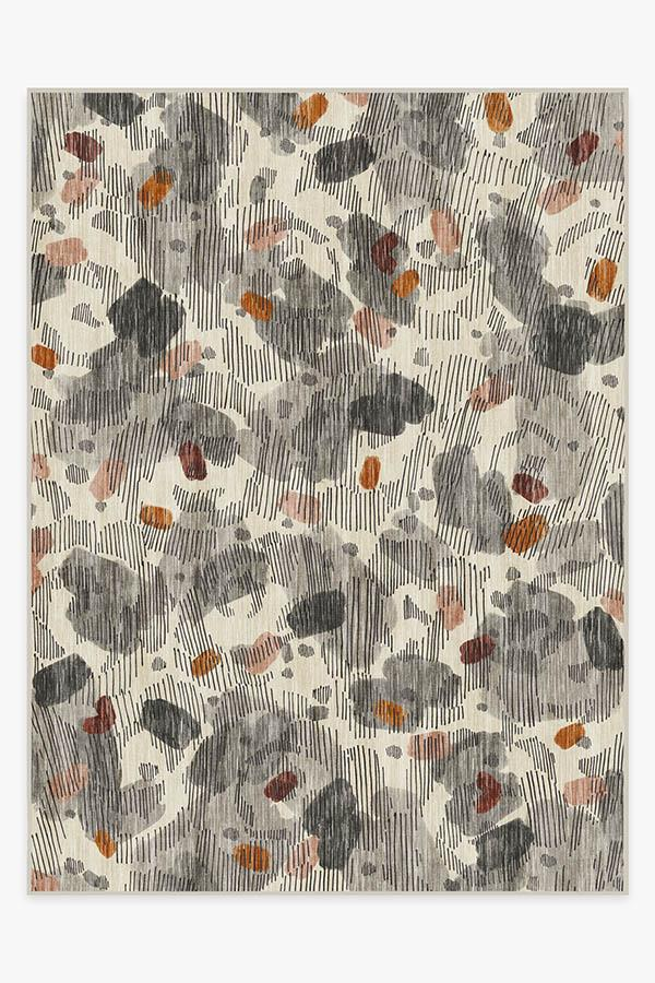 Washable Rug Cover & Pad | Leona Warm Grey Rug | Stain-Resistant | Ruggable | 9'x12'
