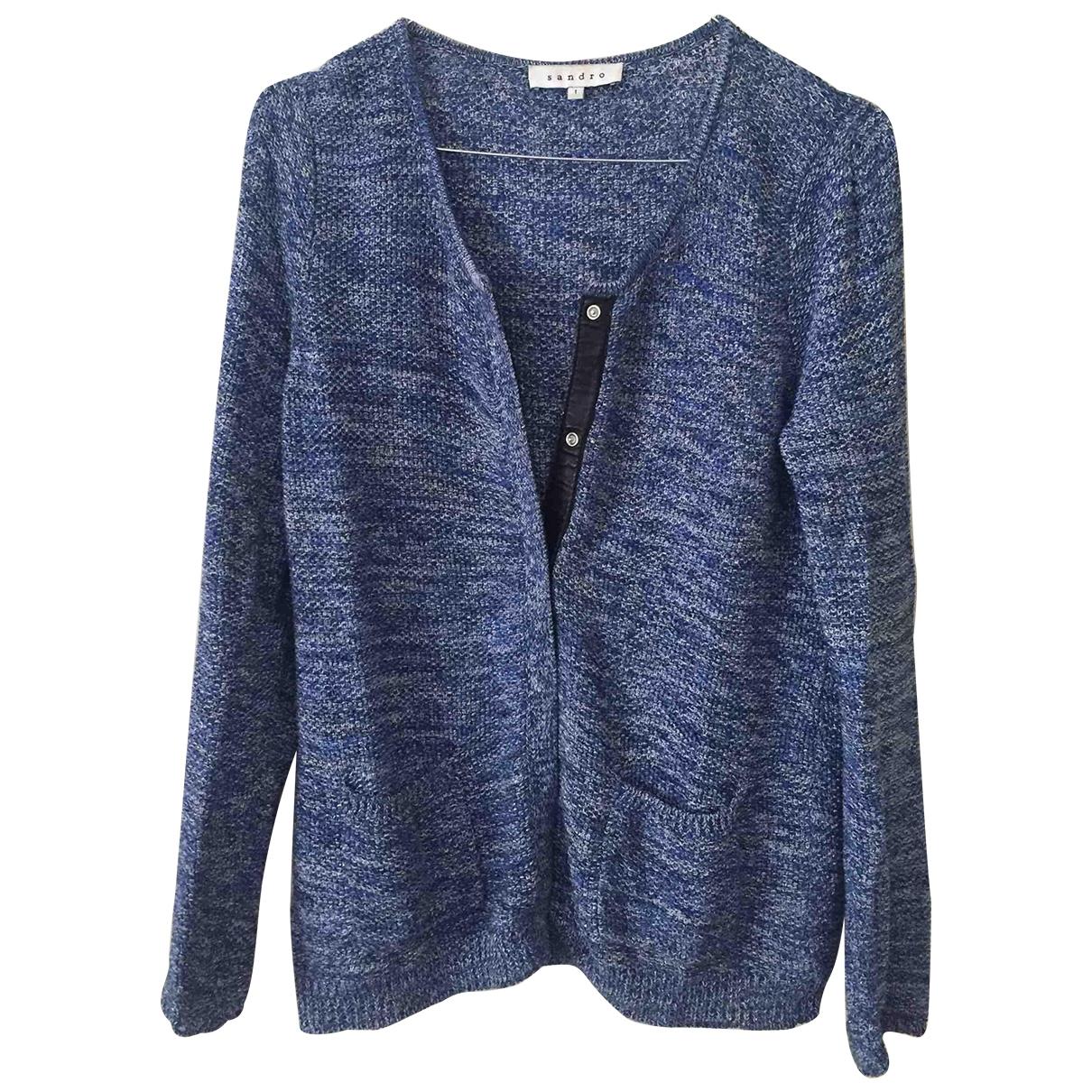 Sandro \N Pullover in  Blau Leinen
