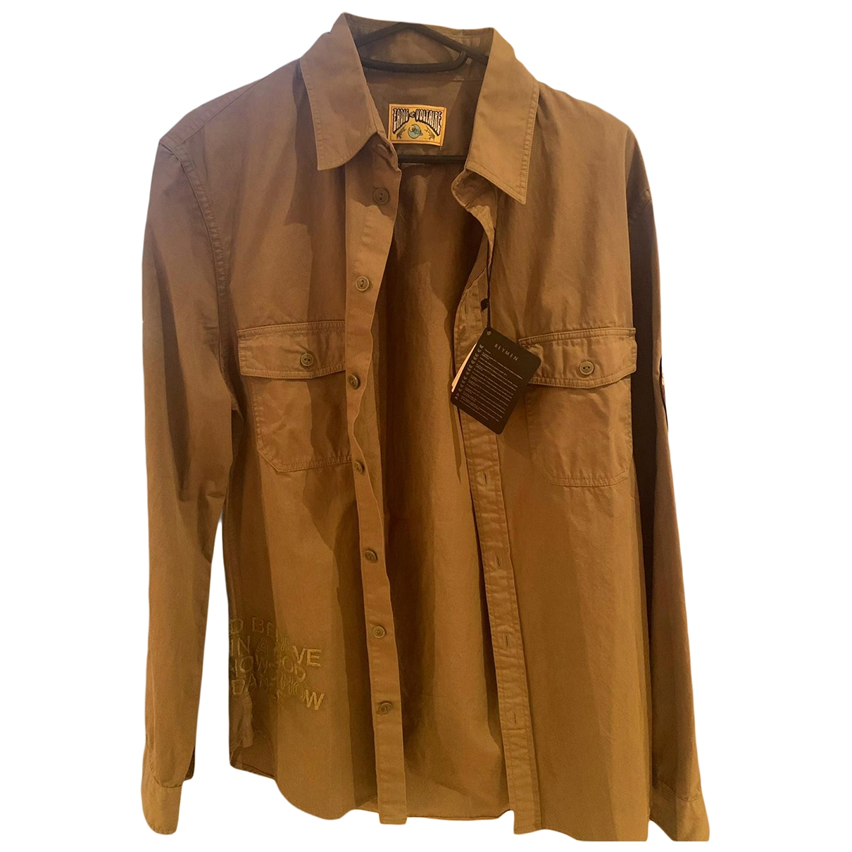 Zadig & Voltaire \N Camel Cotton Shirts for Men 38 EU (tour de cou / collar)