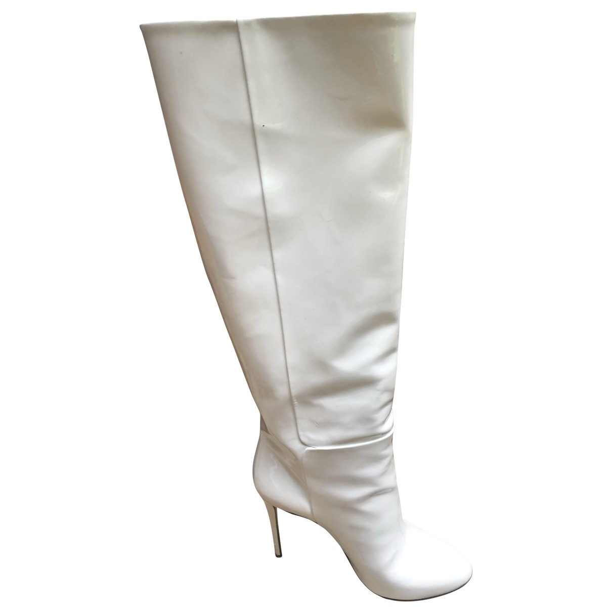 Aquazzura \N White Patent leather Boots for Women 7 UK