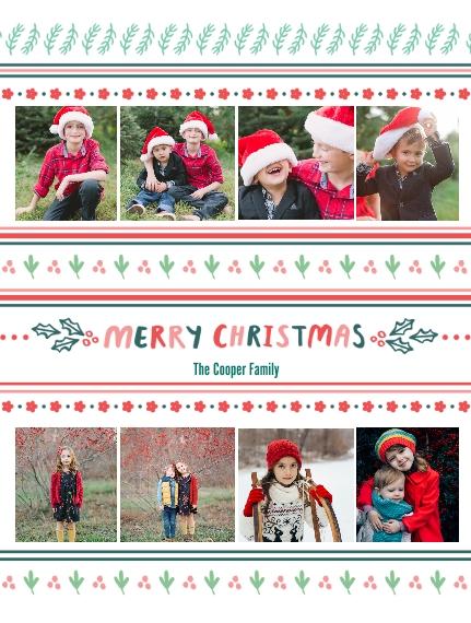 Holiday Plush Fleece Photo Blanket, 60x80, Gift -Christmas Patterns