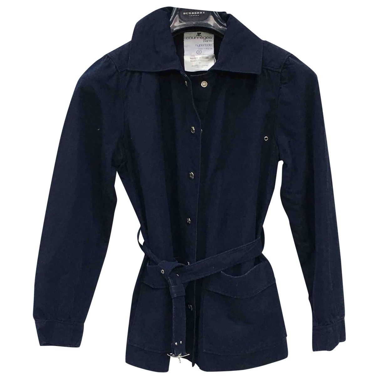 Courrèges \N Navy Linen jacket for Women 38 FR
