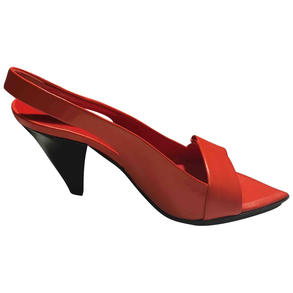 Jil Sander - Sandales   pour femme en cuir - orange