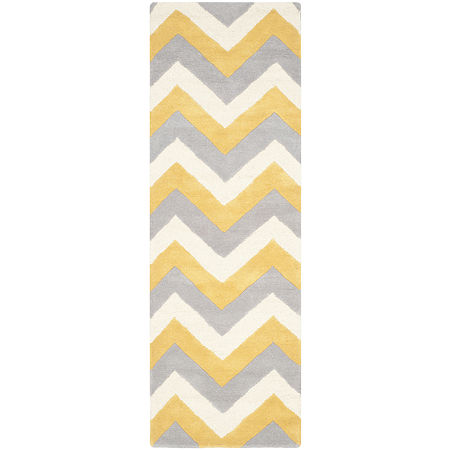 Safavieh Marcelyn Chevron Hand Tufted Wool Rug, One Size , Yellow