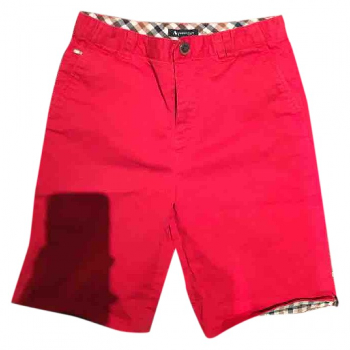 Aquascutum \N Shorts in  Rot Baumwolle