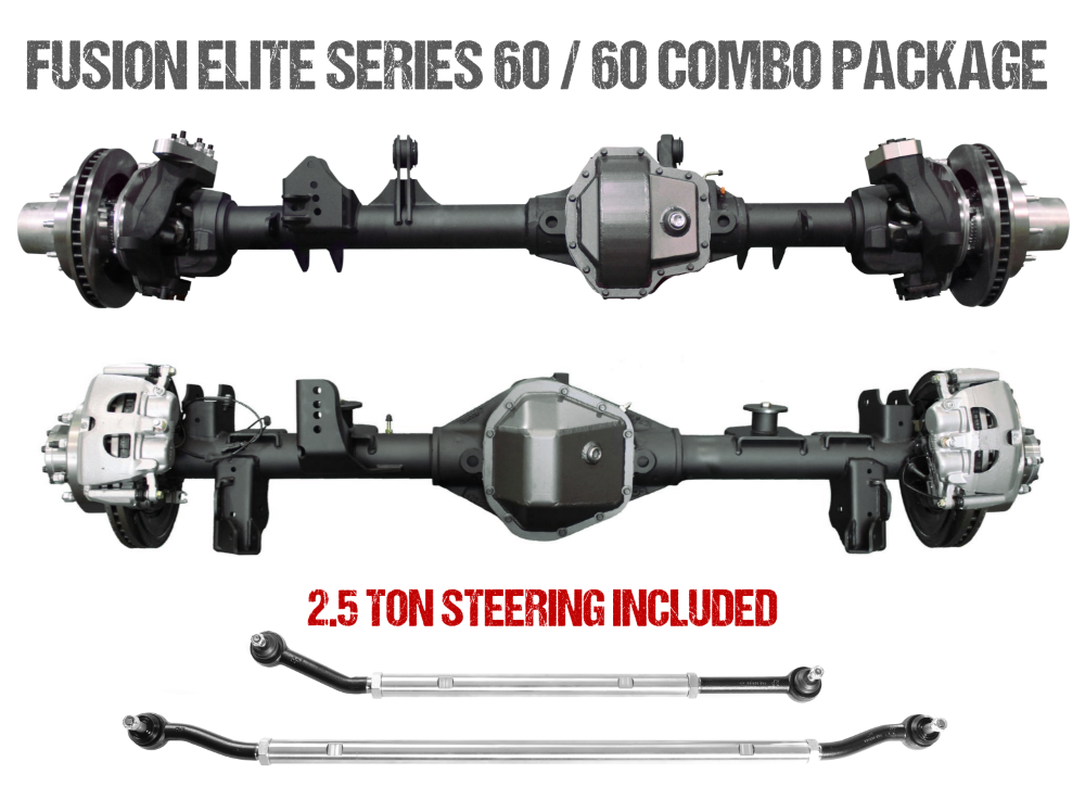 Jeep JL Axle Assembly Fusion Elite 60/60 Package 72 Inch 18-Pres Wrangler JL Gear Ratio 4.88 ARB Air Locker Fusion 4x4