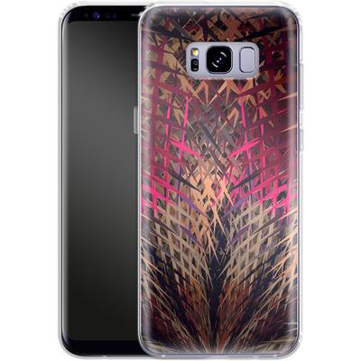 Samsung Galaxy S8 Plus Silikon Handyhuelle - Grid Explosion von Danny Ivan