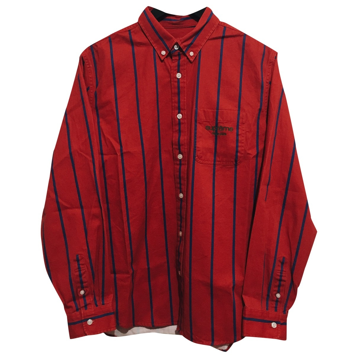 Supreme \N Hemden in  Rot Baumwolle