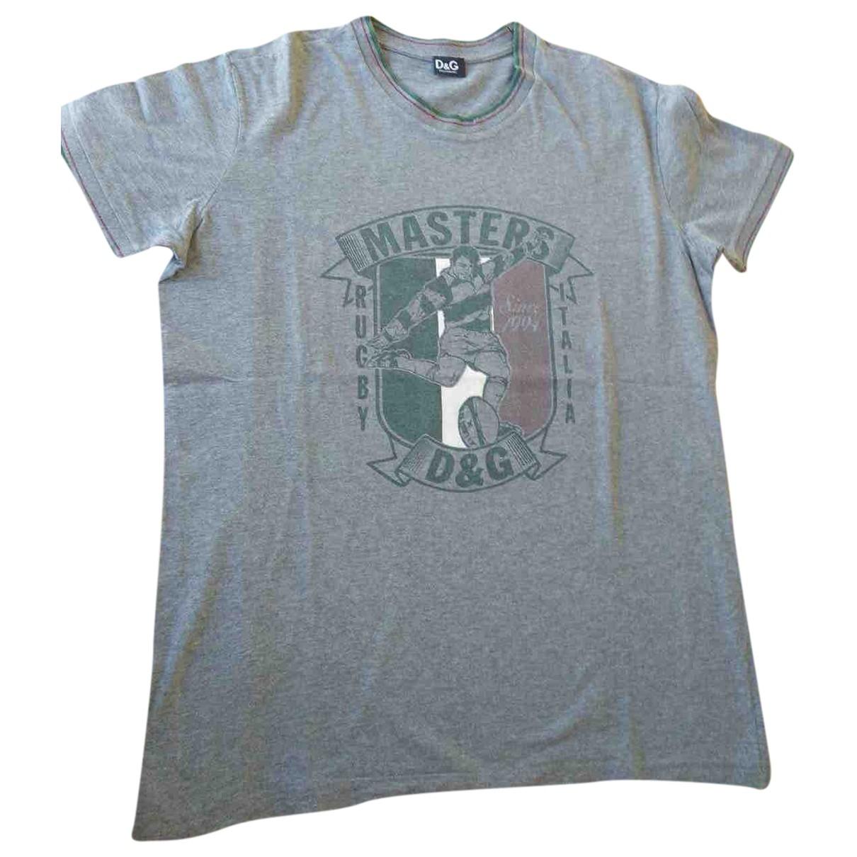 D&g - Tee shirts   pour homme en coton - gris