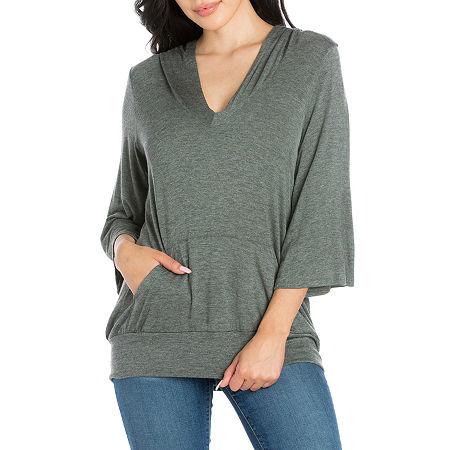 24/7 Comfort Apparel Womens Trendy Oversized Hoodie, Medium , Gray