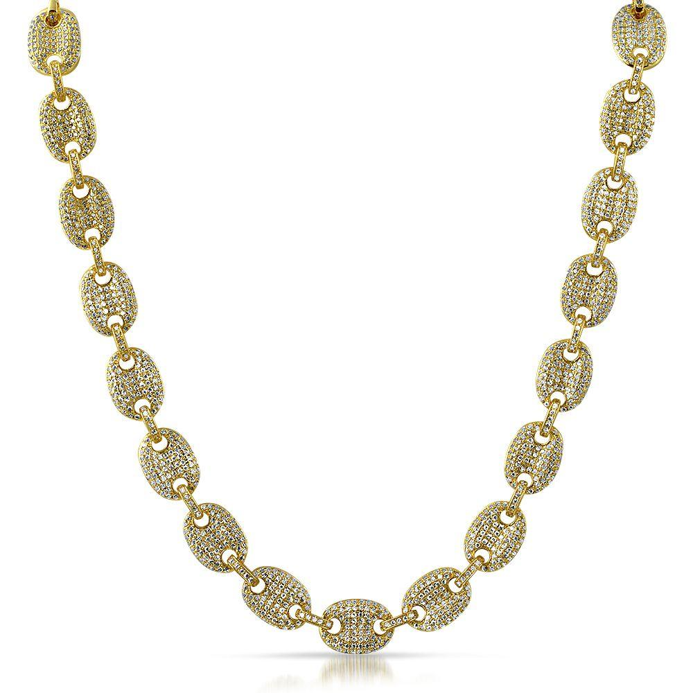 Bubble Link Mariner Bling Bling Gold CZ Chain